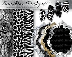 Animal Scrapbook Kit Bow Frames Zebra Digital by SunshineDesigns88, $5.98 Scrapbook Kit, Animal Print Rug, Digital Scrapbooking, Frames, Bows, Design, Stuff To Buy, Etsy, Arches