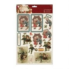 Papermania A4 Decoupage Pack Victorian Christmas Holly