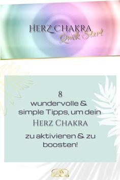 Nutze folgende einfache Alltags-Übungen & Tipps, um dein Chakra zu aktivieren & zu boosten! Ich habe dir auch eine wundervolle geführte Meditation dazu gepackt! #12chakren #chakra #chakras #12chakras #meinechakren #chakraboosten #herzchakra Coaching, Yoga, Chakras, Spiritual, Tutorials, Tips, Training