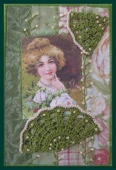 Jeune femme aux éventails by angéliquepatch, via Flickr