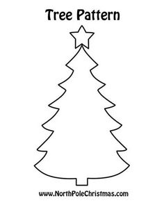 Winter is game on for this Christmas tree! Royalty free Christmas tree template outlined in black and white for arts and crafts, kids activities. Christmas Fayre Ideas, Christmas Tree Printable, Christmas Tree Template, Christmas Tree Cutting, Wall Christmas Tree, Christmas Tree Pattern, Free Christmas Printables, Felt Christmas Ornaments, Christmas Sewing