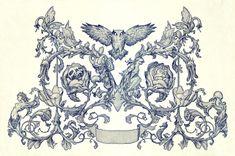 James Jean logo design for Guillermo Del Toro's new production house Miranda