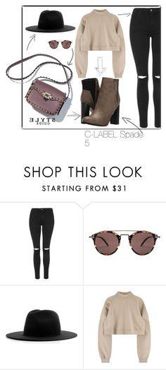 """""""C-LABEL SPADE 5"""" by clabelfootwear on Polyvore featuring Topshop, Oliver Peoples, Études and C Label"""