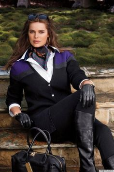 Robyn Lawley is the first plus-size model Ralph Lauren has ever hired to star in its ad campaign.    gender, popular culture, body image