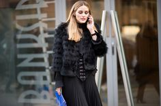 Olivia Palermo attends the Osman LFW AW16 show at The Bankside Vaults on February 22, 2016 in London, England. #Oliviapalermo #LFW #AW16