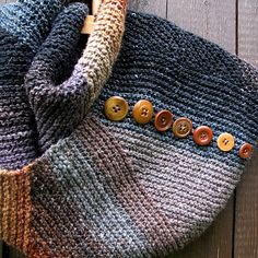 Ravelry: ikan's 47 - wonderful pattern to accent Noro yarn variations - love the addition of the buttons as well