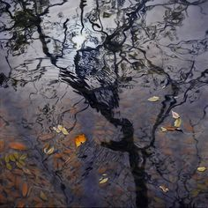 Ai Shah's Tranquil Oil Paintings Reflect Peacefully Rippling Water Scenes mymodernmet.com  <3