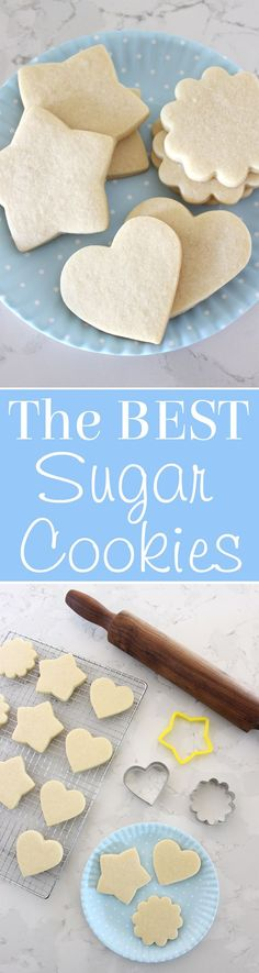 Simply the PERFECT Sugar Cookie Recipe! These cookies are soft & delicious, easy to cut and keep their shape! The only sugar cookie recipe you'll ever need! Best Sugar Cookie Recipe, Best Sugar Cookies, Sugar Biscuits Recipe, Cupcakes, Cupcake Cookies, Tea Cakes, Holiday Baking, Christmas Baking, Christmas Desserts
