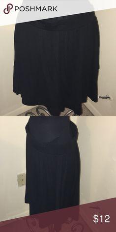 Black Ann Taylor Loft skirt Fun black skirt from Ann Taylor Loft. Size medium, fits about an 8/10, 18 1/2 inches long. LOFT Skirts