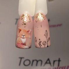 #naildesign #nailart #animalnail #foxnailart