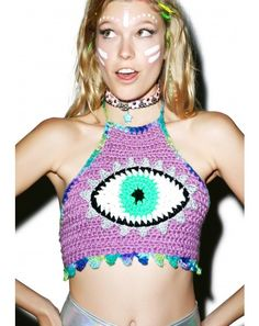 Third Eye Crochet Crop Top
