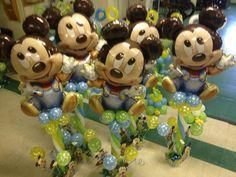 Baby Mickey Mouse Birthday Balloon Centerpieces
