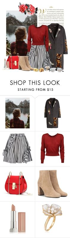 """""""Untitled #1163"""" by iheartkittys ❤ liked on Polyvore featuring Urban Renewal, Dolce&Gabbana, MSGM, Yves Saint Laurent, Maybelline, Ross-Simons and Spektre"""
