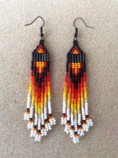 Native American Style seme perla pendeva orecchini di Beadcracka