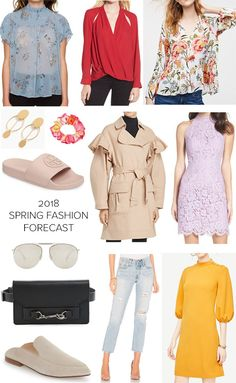 2018 Spring Fashion Forecast: What's on trend for spring with pictures and product links! #springfashion #fashioninspiration #fashionover40