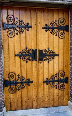 Doors swinging church