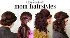 Just because you're a mom doesn't mean that you have to be frumpy. Try these cute and easy mom hairstyles to feel put together in less than 10 minutes!