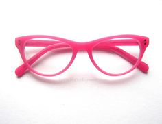 Wicked Cat Eyes - Neon Cat Eye Reader | Retro Focus Eyewear Hot Pink Cat Eye Reading Glasses. Perfect for this year's trending neons. Available in Crayola Mint Green, Turquoise/Aqua, Black, Hot Pink. Perfect optical quality acetate frame where you can have your own RX put into them. Meow.....