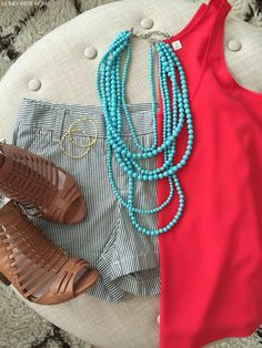 Weekend Steals & Deals | Summer Fashion Outfits -  Beaded Necklace