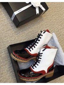 Chanel Suede Calfskin Short Boots Red Paris-Salzburg 2014/15