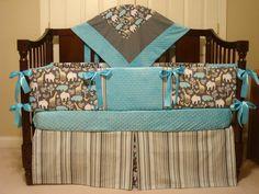 Baby Crib Bedding Set 4 PC You Design by katyasdesigns on Etsy, $285.00