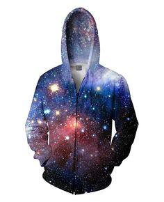 Amazing Lush Galaxy Zip-Up Hoodie Women Men Tops Print Nebula Space Hoody Sweatshirt Hoodies Outfits Coats Sweat Jumper Blue Hoodie, Zip Hoodie, Hoodie Jacket, Pullover, Hoody, Zip Up Hoodies, Mens Sweatshirts, Fashion Models, Fashion Women