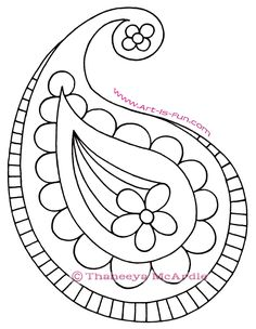Today's Drawing Class 101: Drawing Patterns and overlapping |  How to Draw Paisley: A Fun Easy Step-by-Step Drawing Lesson