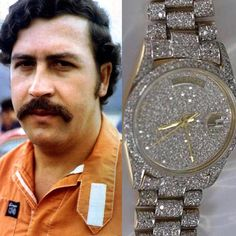 "Elgmuzikgrew.blogspot.com ,519 Likes, 24 Comments - Rolex Daily (@rolexworld_) on Instagram: ""Pablo Escobar's Day Date. It sold for 8.500$ at an auction in Colombia but has a worth of 70.000$…"""