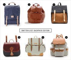 Smitten List: Backpack Edition   conundrum