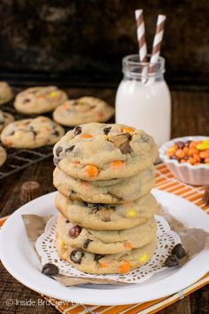 Reese's Peanut Butter Pudding Cookies - soft chewy cookies loaded with candy is a good idea. Great recipe for your cookie jar!