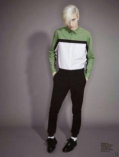 Lucky Blue Smith para L'Officiel Hommes Paris Spring/Summer 2015 Primavera Verano #Tendencias #Trends #Menswear #Moda Hombre