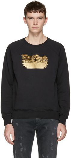 MARC JACOBS Black Hot Dog Pullover. #marcjacobs #cloth #pullover