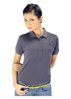 Women's Polo T-shirt - Grey