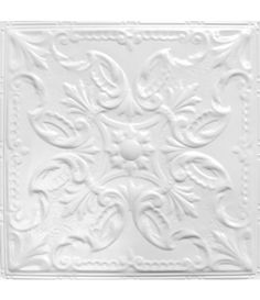 Tin Ceiling Tile Pattern is an ornate Victorian pattern with a decorative pearl border. The soft styling looks great for its organic floral elements.
