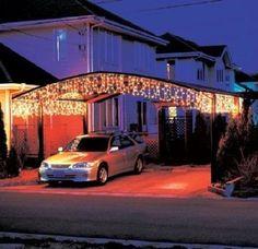 NEW LED wholesalers 16.4 Feet 150 LED Icicle Christmas Holiday Lights Warm White