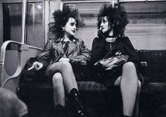 I can't even express how depressed I am seeing them dressing like this on a subway. The girls were just carefree, they had thir hair up with perhaps a lot of gels. They wore leather jackets with studs and high kneel boots, they smoke. It's just wild, and in a good way.