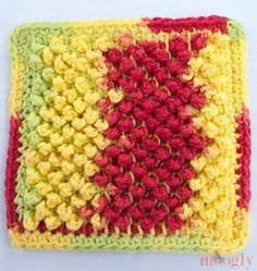 Pretty Pebbles Dishcloth - Tunisian ~ intermediate ~ FREE PATTERN