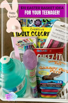 Easy Dollar Store Easter Basket Ideas for Teens Bunny Crafts, Easter Crafts, Diy Crafts, Easter Baskets To Make, Ball Birthday Parties, Fun Crafts For Kids, Lake Life, Basket Ideas, Basket Weaving
