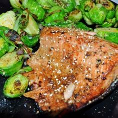 15 Minute Salmon and Sauteed Sprouts