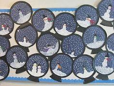 Winter and snowmen bulletin board craft idea: Snowman Globe