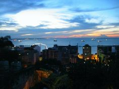 Brasil: An evening view from the Hotel Casa do Amarelindo