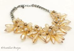 Amber full crystal necklace available to buy from www.facebook.com/Scintillantjewellery