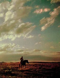 Oh, for a life out on the range! #west #country #cowboy #horse