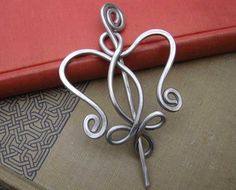 Celtic Angel Heart Shawl Pin / Scarf Pin / by nicholasandfelice, $ 20.00