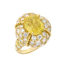 Gold, Yellow Sapphire and Diamond Ring, Van Cleef & Arpels for Sale at Auction on Thu, - - Fine Jewelry - Beverly Hills Sapphire Pendant, Sapphire Jewelry, Sapphire Gemstone, Sapphire Rings, Blue Sapphire, Yellow Jewelry, Silver Jewelry, Vintage Jewelry, Fine Jewelry
