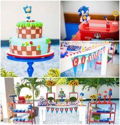 Sonic the Hedgehog boy's birthday party www.spaceshipsandlaserbeams.com