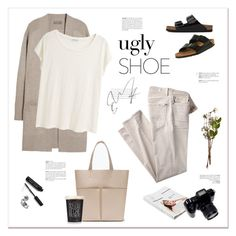 """""""My ugly shoes."""" by yexyka ❤ liked on Polyvore featuring N.Peal Cashmere, Birkenstock, Acne Studios, 7 For All Mankind, Grace, Zara, Wedgwood, American Apparel, Bobbi Brown Cosmetics and uglyshoes"""
