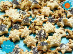 Weihnachten: Blätterteig Sterne - salziges Knabber-Gebäck #vegan