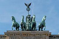 Quadriga Sculpted By Johann Gottfried Schadow On Top Of The Brandenburg Gate Brandenburger Tor In Berlin Germany Bu Brandenburg Gate Germany German History