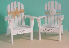 Adirondack Chair Beach Wedding Decoration or Cake by idofavors, $32.00